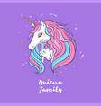 unicorn family love magic dream 1 vector image vector image