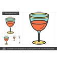 wine glass line icon vector image vector image