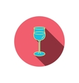 Wineglass icon Goblet sign vector image