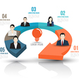Arrow 3d with business people vector image