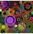 Industrial colorful background design vector image