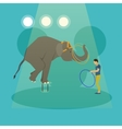 Circus concept banner Acrobats and artists vector image