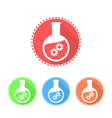 Simple icons of flat-bottomed flask vector image
