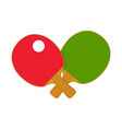 2 red and green table tennis racket bat vector image