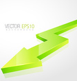 3d green arrow in isolated background vector image vector image