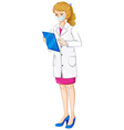 A female chemist vector image vector image