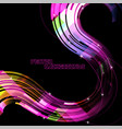 abstract curved colors on a black scene vector image vector image