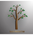 abstract tree with green foliageseps 10 vector image vector image