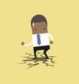 african businessman standing on cracking floor vector image vector image