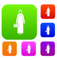 arabic woman set collection vector image vector image