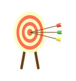 archery target with arrows icon