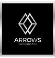arrow rhomb line logo infinity cube royal luxury vector image vector image