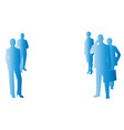 background blue business people vector image vector image