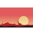 Brachiosaurus on hills landscape at afternoon vector image vector image