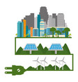 buildings ecology green city scene vector image vector image