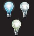 bulbs set vector image vector image