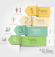 Business arrow infographics template vector image vector image