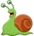 cartoon funny snail isolated on white background vector image vector image