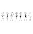 cartoon of group of businessmen or politicians vector image vector image