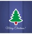 Christmas tree greeting card vector image vector image