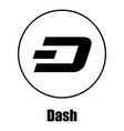 dash icon simple style vector image vector image