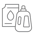 detergent thin line icon laundry and wash vector image