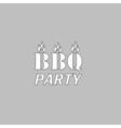 Distressed BBQ computer symbol vector image vector image