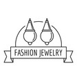 fashion jewelry logo outline style vector image vector image