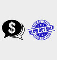 financial chat messages icon and scratched vector image vector image