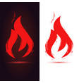 fire flame isolated symbol design element vector image vector image