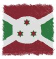 Flag of Burundi handmade square shape vector image