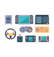 game console video gaming devices 80s retro for vector image