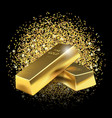 gold bars on glitter dust background vector image vector image