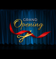 grand opening card with ribbon and scissors vector image vector image