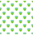 Green paintball mask pattern cartoon style vector image vector image