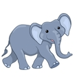 Happy elephant walking vector image vector image