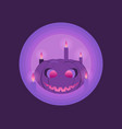 happy halloween october 31st pumpkin and candles vector image vector image
