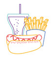 hot dog french fries and soda fast food vector image vector image