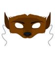 isolated halloween werewolf mask vector image