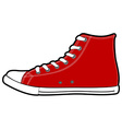 isolated modern red sneakers vector image vector image