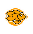 logo goldfish line style vector image vector image