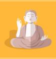 magnificent statue sitting buddha shakyamuni vector image