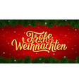 merry christmas calligraphy text in german vector image vector image