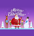 merry christmas - cartoon characters vector image