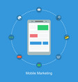 mole marketing flat design collection vector image