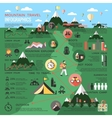 Mountain Travel Infographics vector image vector image
