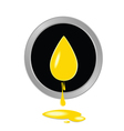 oil yellow button vector image