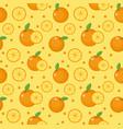 orange seamless pattern mandarin citrus endless vector image vector image