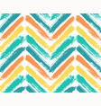 painted chevron pattern blue yellow vector image vector image