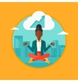 Peaceful business woman doing yoga vector image vector image